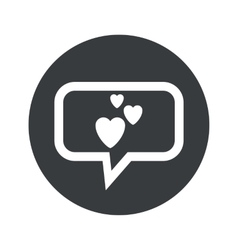 Round love dialog icon vector