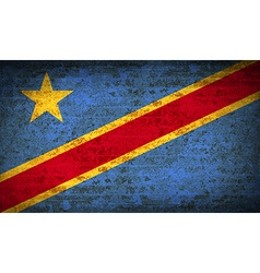 Flags congo democratic republic with dirty paper vector
