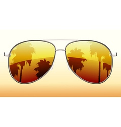 Sunglasses reflection vector