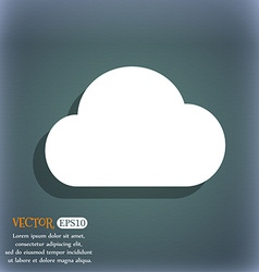 Cloud icon symbol on the blue-green abstract vector