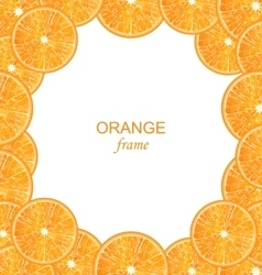 Abstract frame with sliced oranges vector