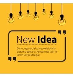 Phrase new idea in isolation quotes vector