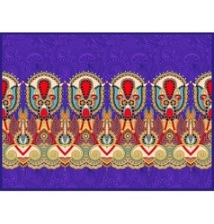 Ethnic horizontal authentic decorative paisley vector