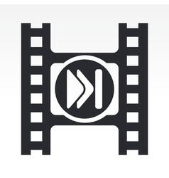 video skip icon vector image