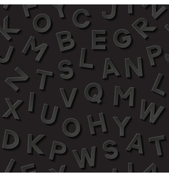 Seamless pattern with alphabet vector image
