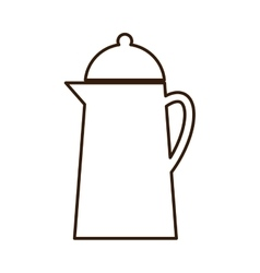 Pot for boiling water metallic icon vector