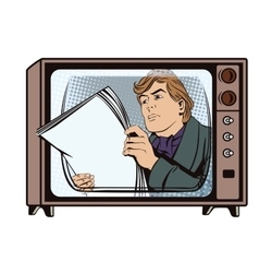 A man reading the morning newspaper vector image