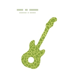 Abstract green natural texture guitar music vector