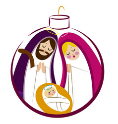 baby jesus in a manger 12 vector image