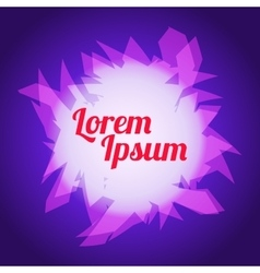 Background geometric purple pink and text vector