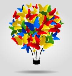 butterflies balloon vector image