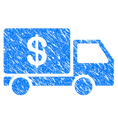 Cash delivery grunge icon vector