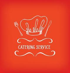 Catering service design logo vector