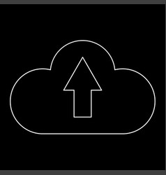 Cloud service the white path icon vector