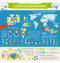 Cocktails consumption infographic presentation vector image vector image