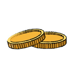 Coins dollar money cash banking vector