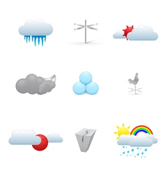 colorful weather icons vector image