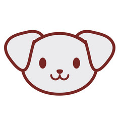 cute puppy face image vector image