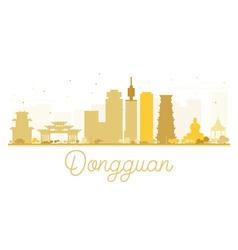 Dongguan city skyline golden silhouette vector