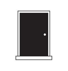 door closed icon image vector image