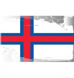 Faeroe islands national flag vector