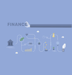 finance process background vector image vector image