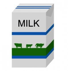 milk carton vector image vector image