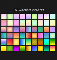 Multicolor gradient backgrounds vector