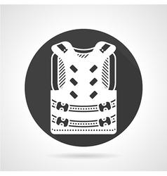 Protective vest black round icon vector