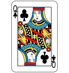 queen of clubs vector image vector image