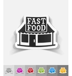 realistic design element FAST FOOD vector image vector image