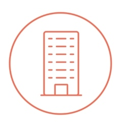Residential building line icon vector image