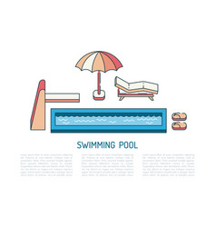 Swimming pool summer vector