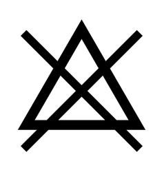 Symbol do not bleach vector