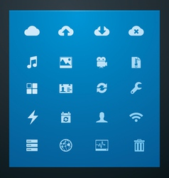 Universal glyphs 10 cloud services vector