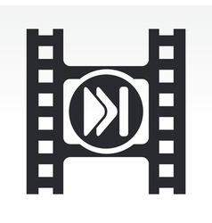 video skip icon vector image