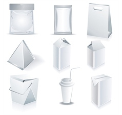 White package templates vector