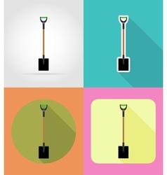 Garden tools flat icons 02 vector