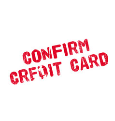 Confirm credit card rubber stamp vector