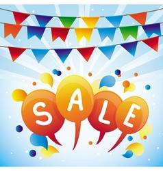 sale balloon vector image