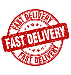 Fast delivery stamp vector