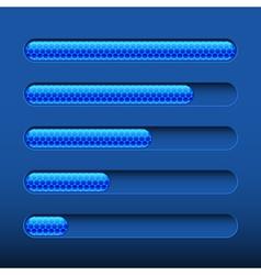 Loading bar on dark blue background vector image