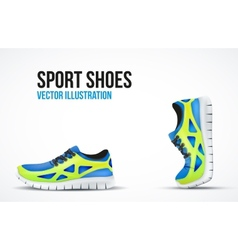Background of Two Running shoes Bright Sport vector image