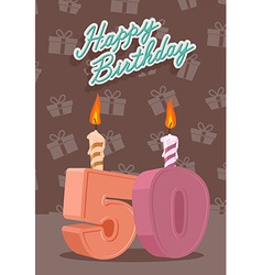 50 year Happy Birthday Card vector image