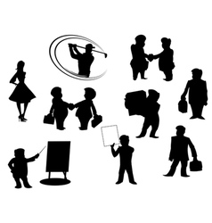 Cartoon people silhouettes vector