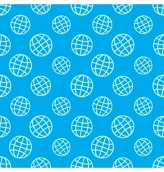 Globe icon pattern vector image