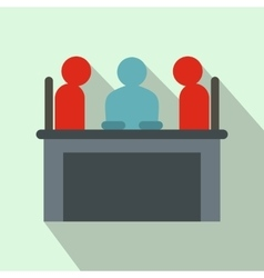 Job interview icon flat style vector
