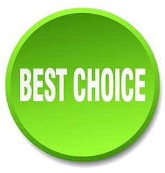 Best choice green round flat isolated push button vector