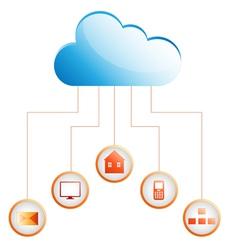 Orange cloud vector