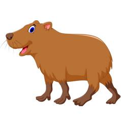 Cute capybara cartoon vector